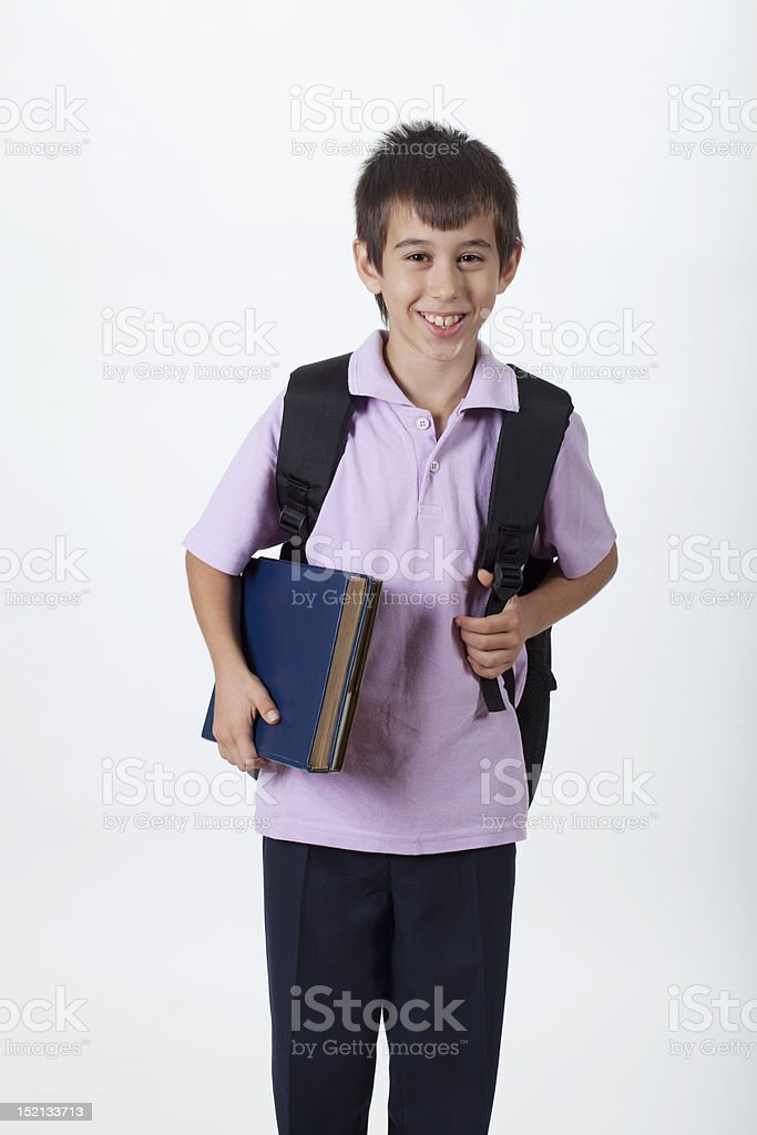 smiling schoolboy royalty-free stock photo