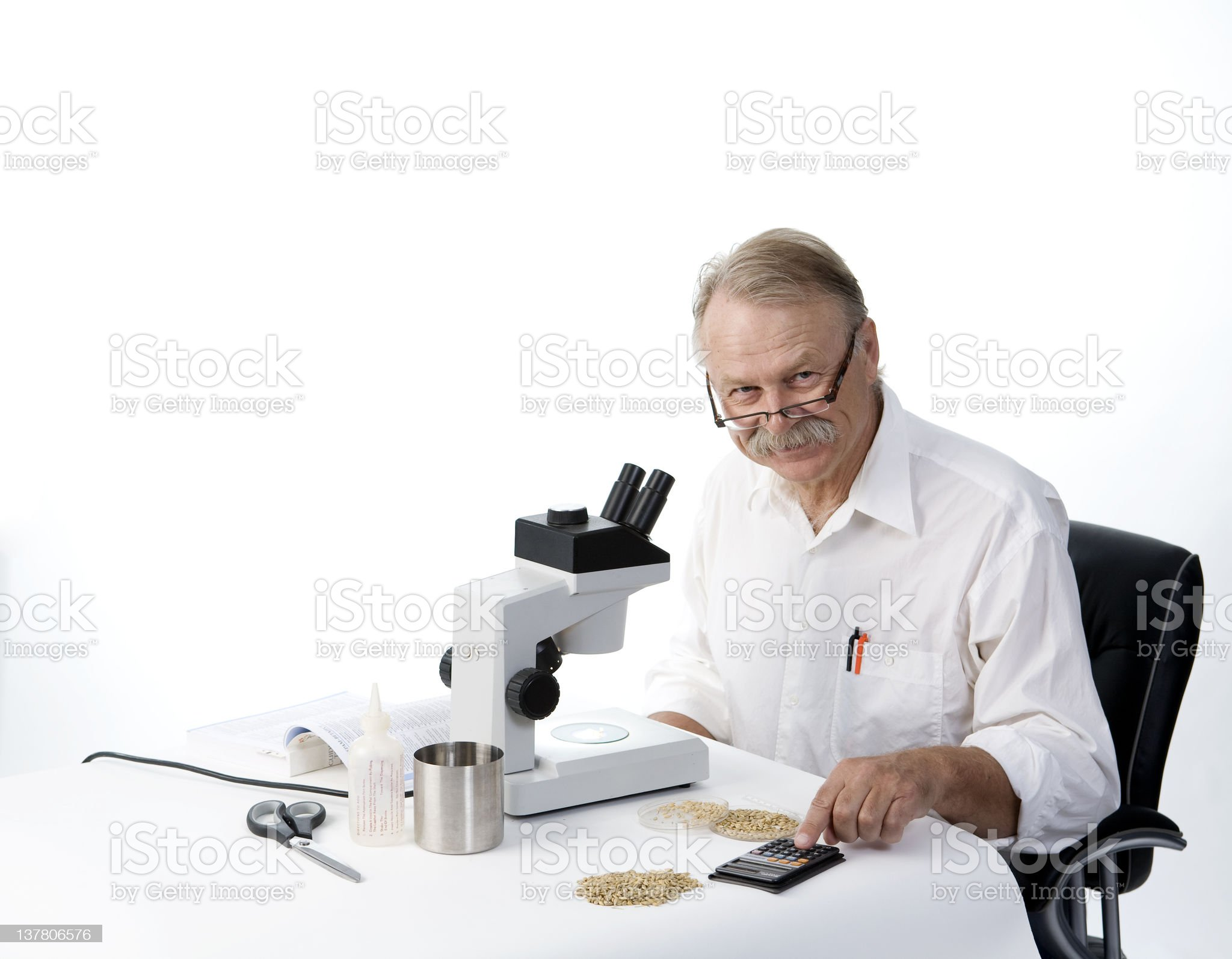 Smiling scientist royalty-free stock photo