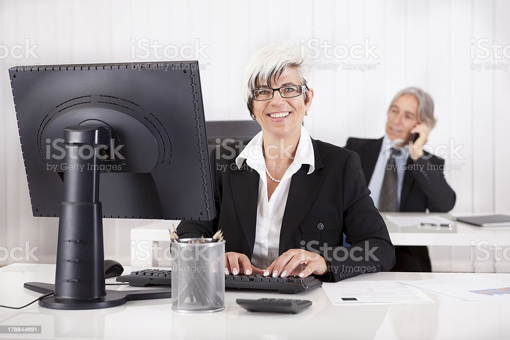 Smiling secretary or personal assistant royalty-free stock photo