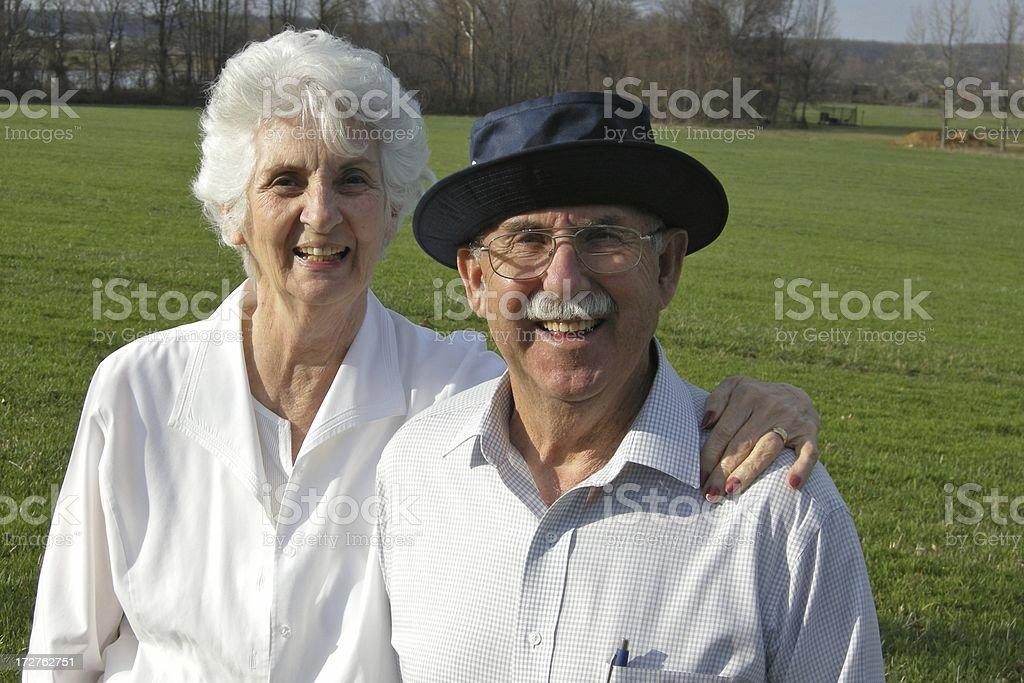 Smiling Senior Couple royalty-free stock photo