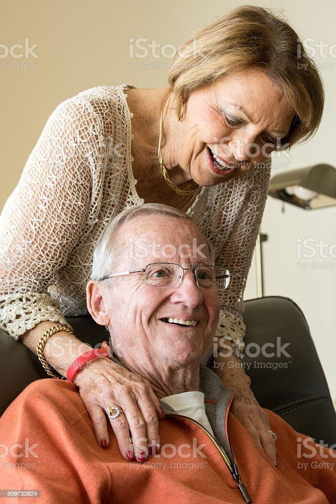 Smiling Senior Couple stock photo