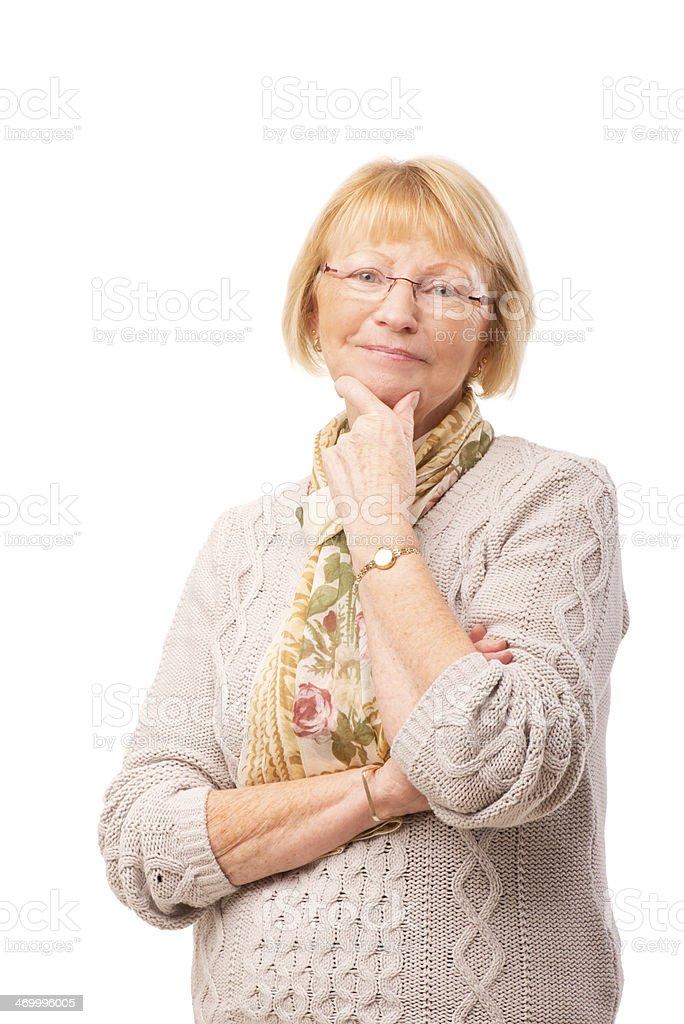 smiling senior female royalty-free stock photo
