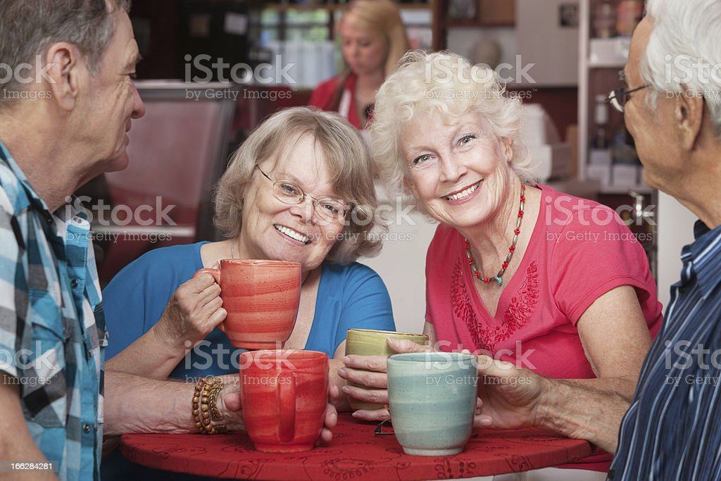 Smiling Senior Ladies royalty-free stock photo