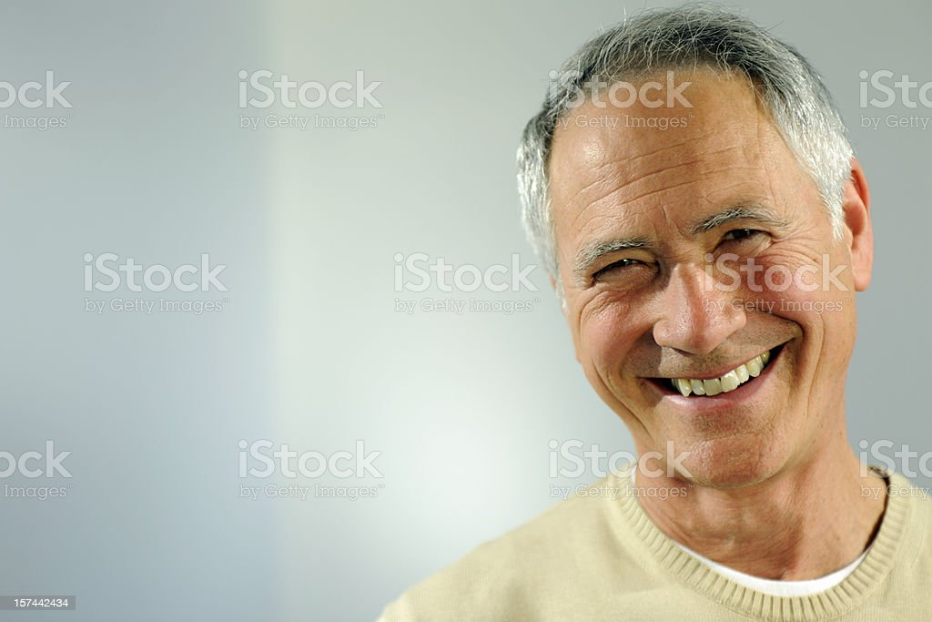 Smiling Senior Man stock photo