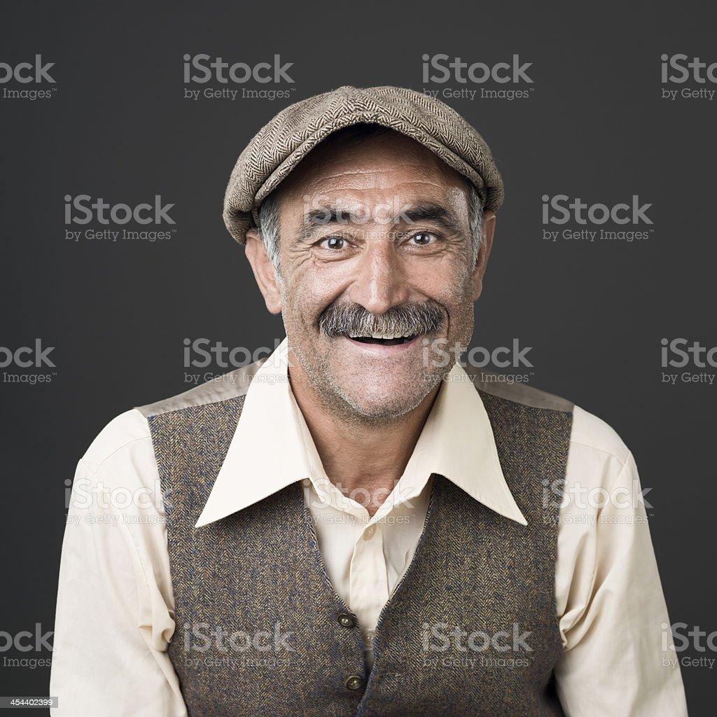 Smiling senior man portrait stock photo