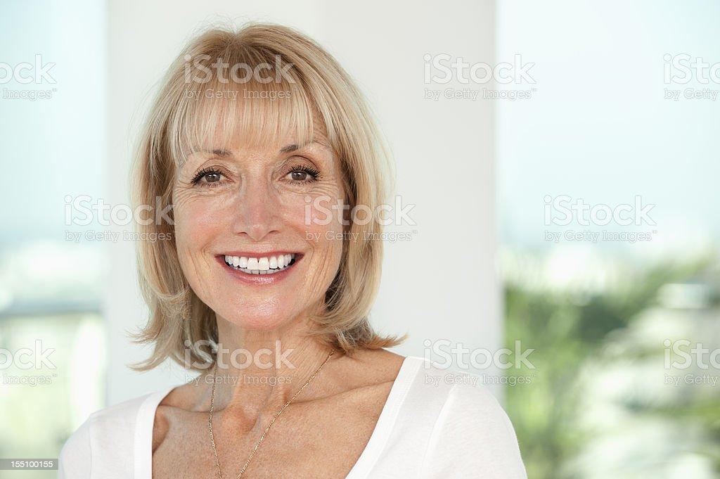 Smiling Senior Woman royalty-free stock photo