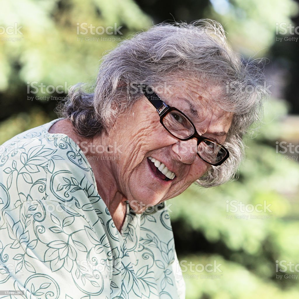 Smiling Senior Woman royalty-free stock photo