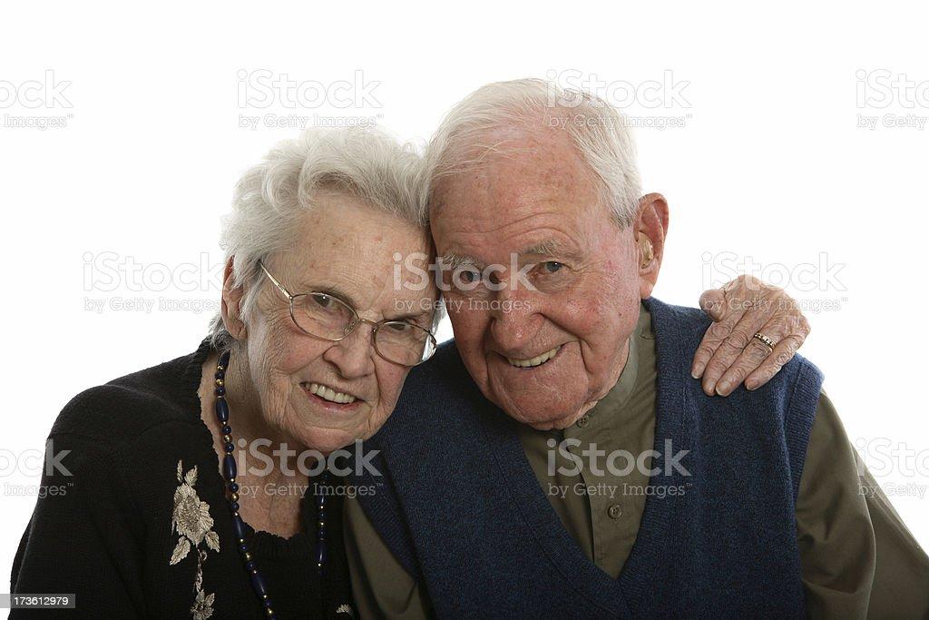 Smiling seniors. royalty-free stock photo