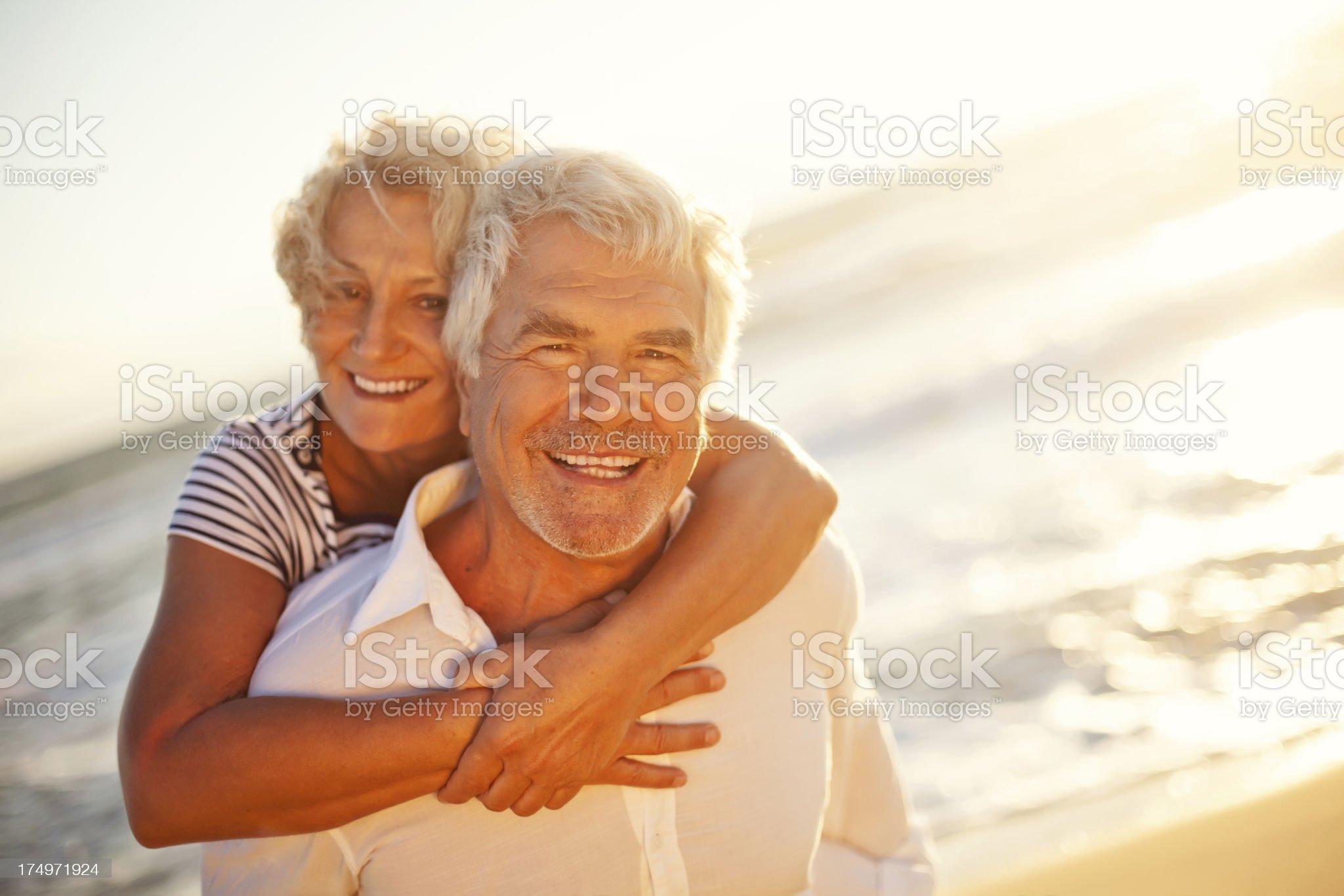 Smiling seniors royalty-free stock photo