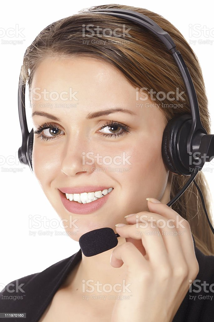 Smiling service operator royalty-free stock photo