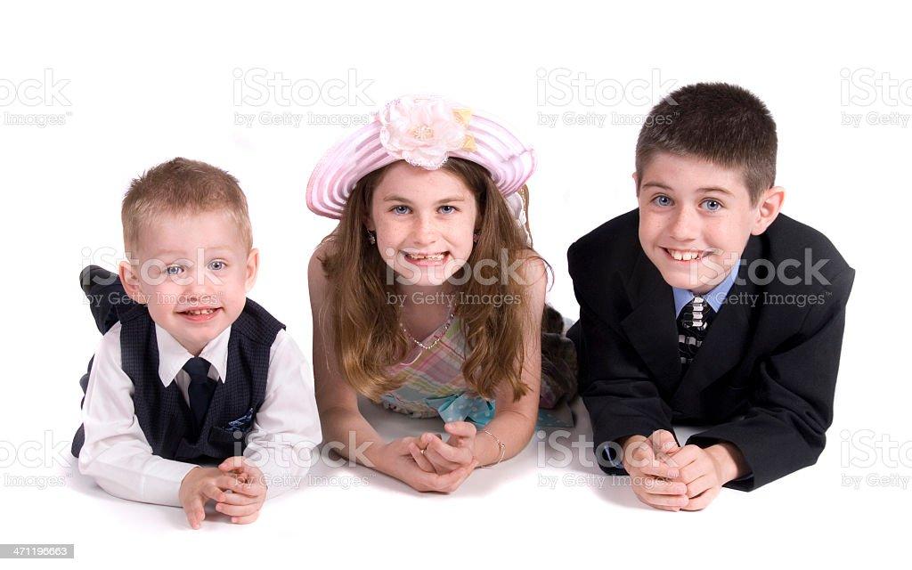 Smiling Siblings stock photo