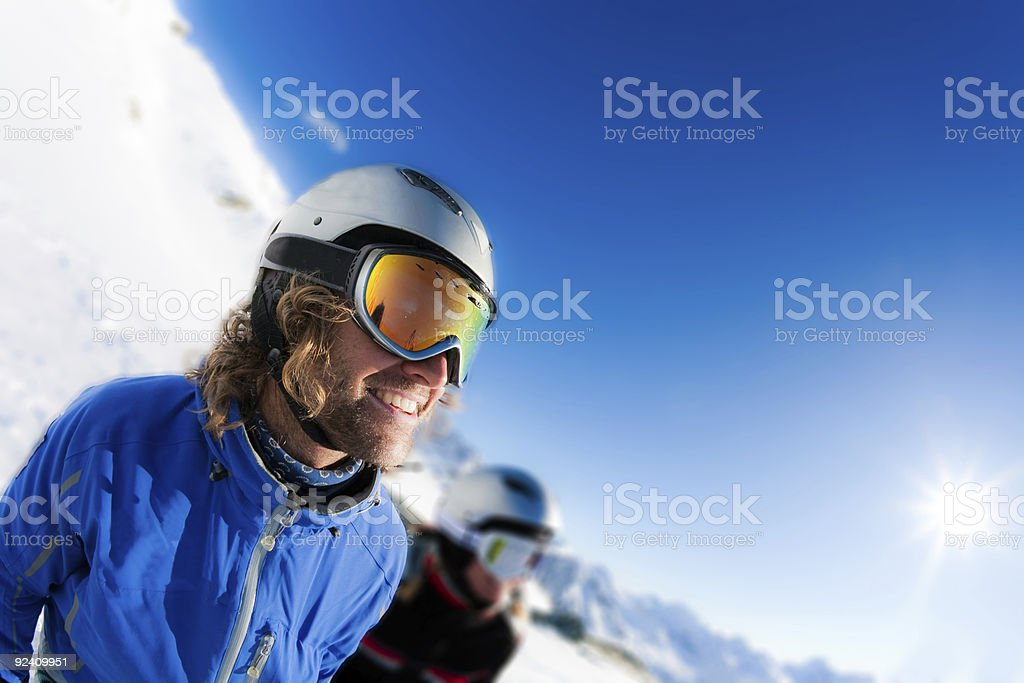 Smiling Skier royalty-free stock photo