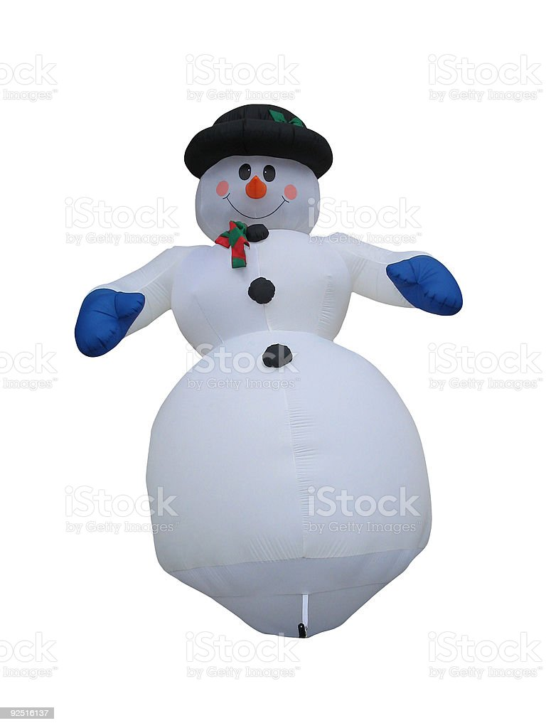 Smiling Snowman royalty-free stock photo