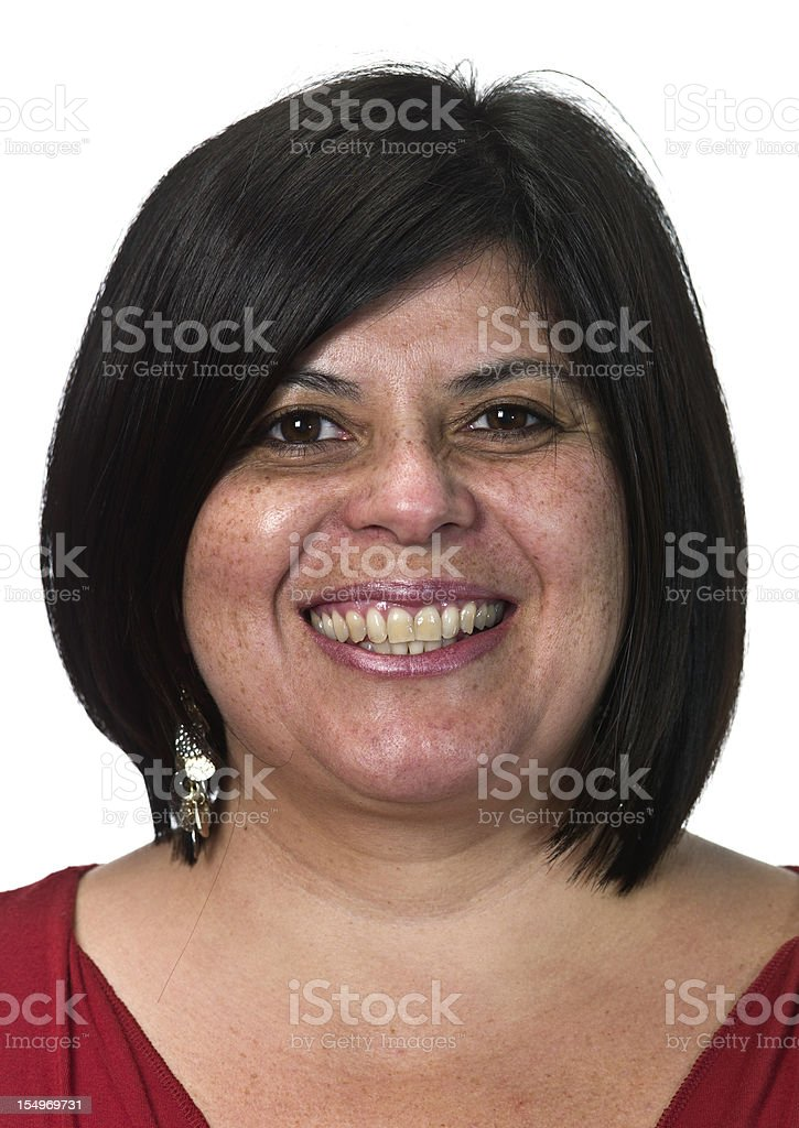 smiling southern european woman royalty-free stock photo