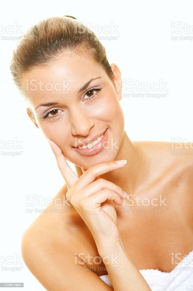 Smiling spa girl royalty-free stock photo