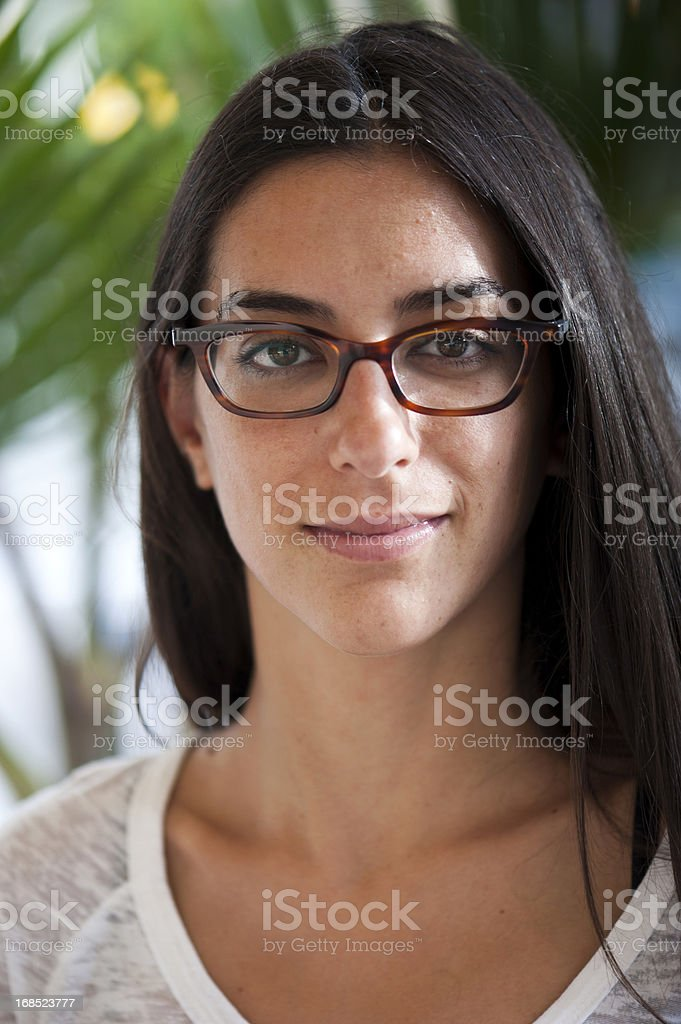 Smiling spanish young woman royalty-free stock photo