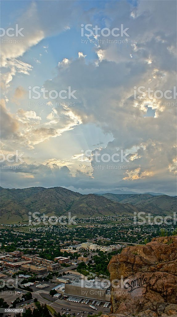 Smiling Storm System stock photo