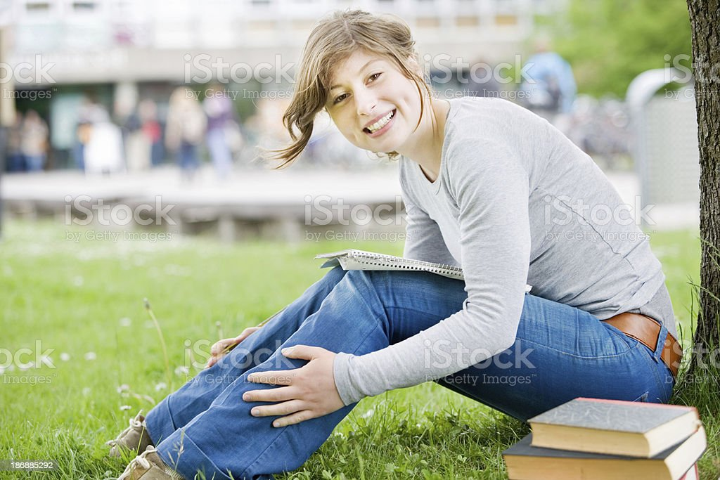 Smiling student stock photo