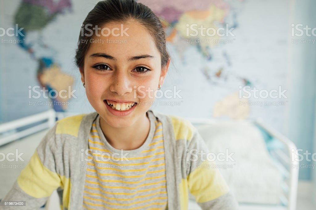 Smiling student stock photo