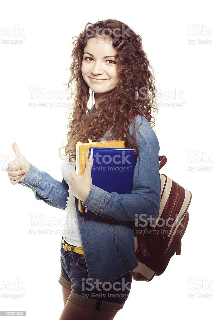 Smiling student woman royalty-free stock photo