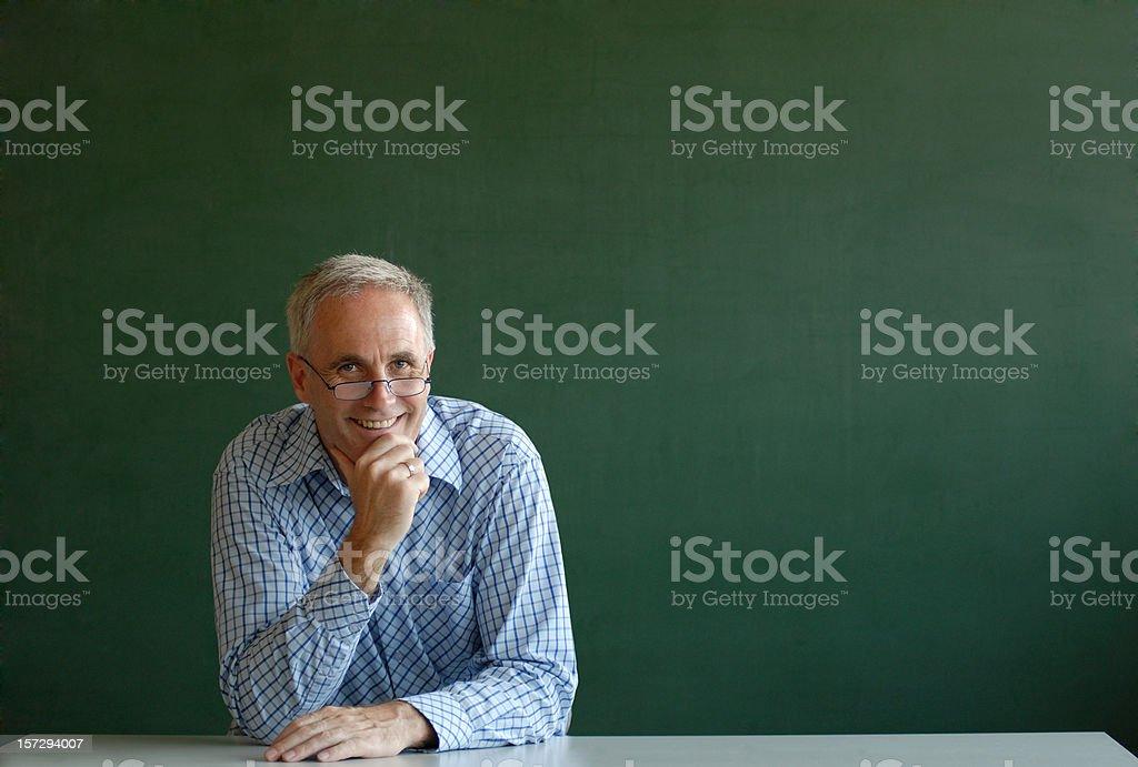 smiling teacher royalty-free stock photo