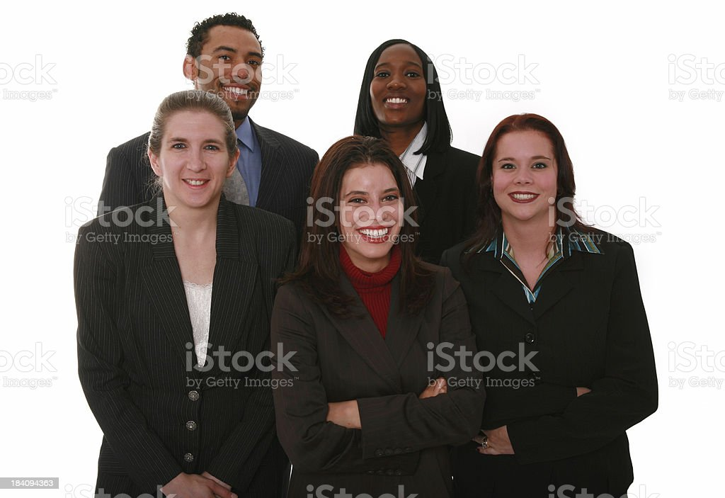 Smiling Team royalty-free stock photo