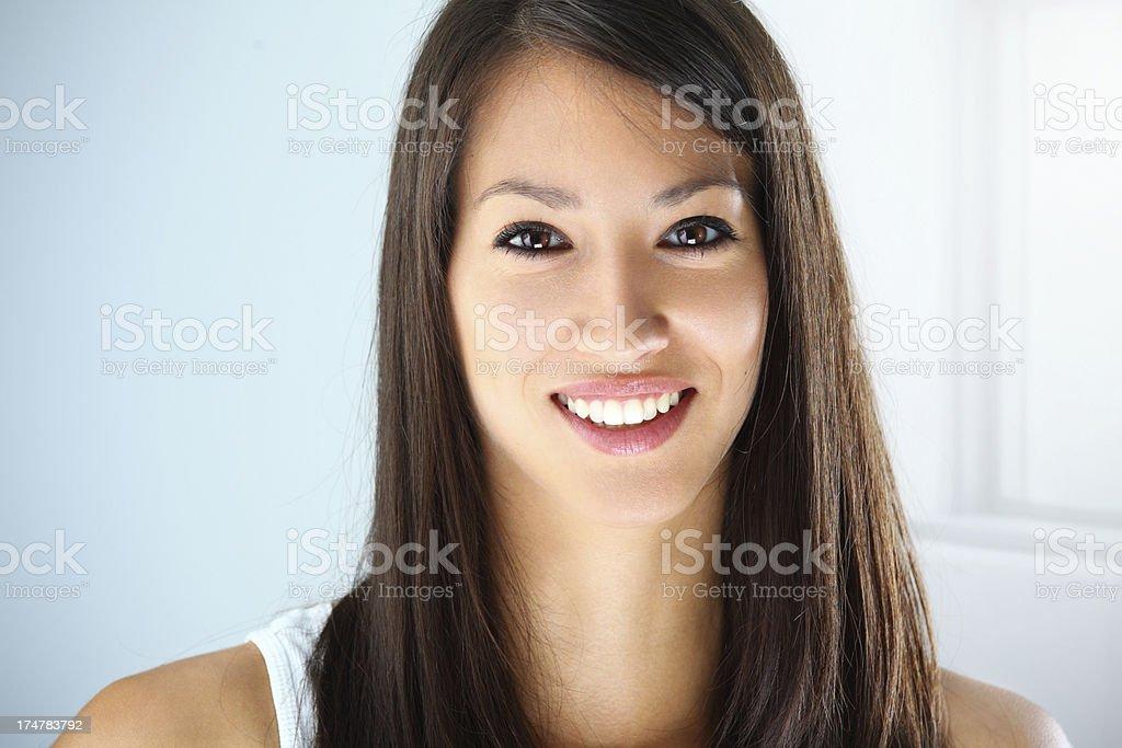 Smiling teen girl, closeup royalty-free stock photo