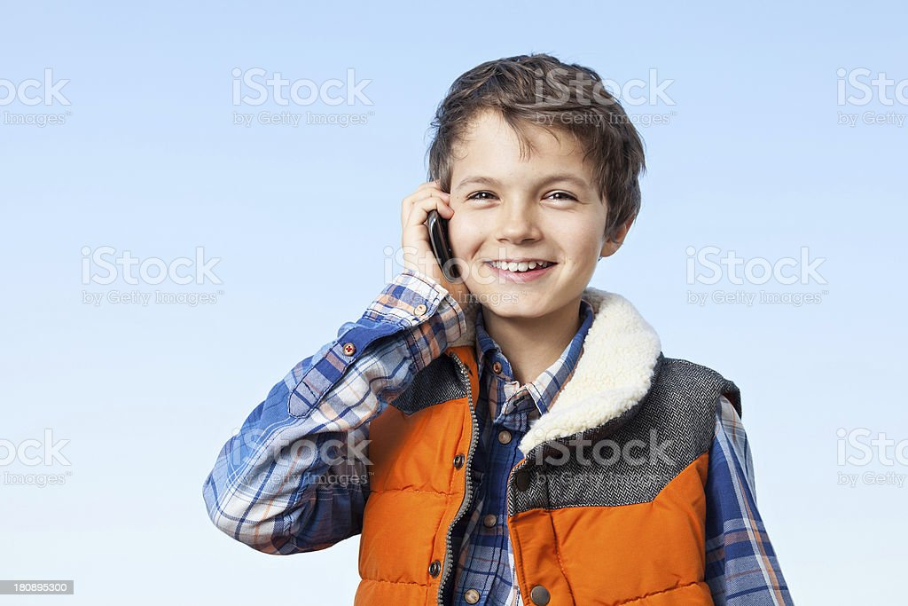Smiling Teenage Boy royalty-free stock photo