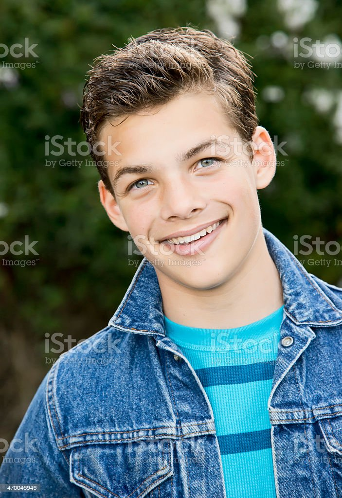 Adolescente sonriente foto de stock libre de derechos