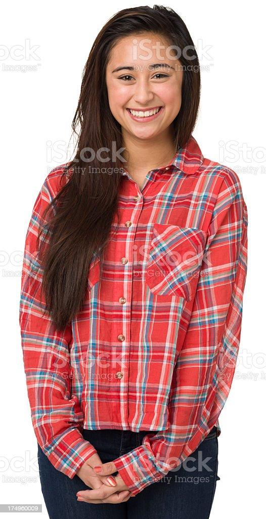 Smiling Teenage Girl Looking At Camera royalty-free stock photo