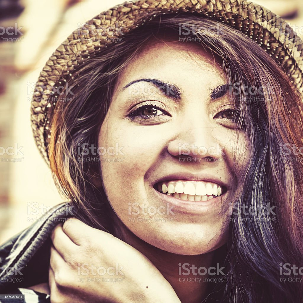 Smiling Teenage Girl with Hispanic Roots royalty-free stock photo