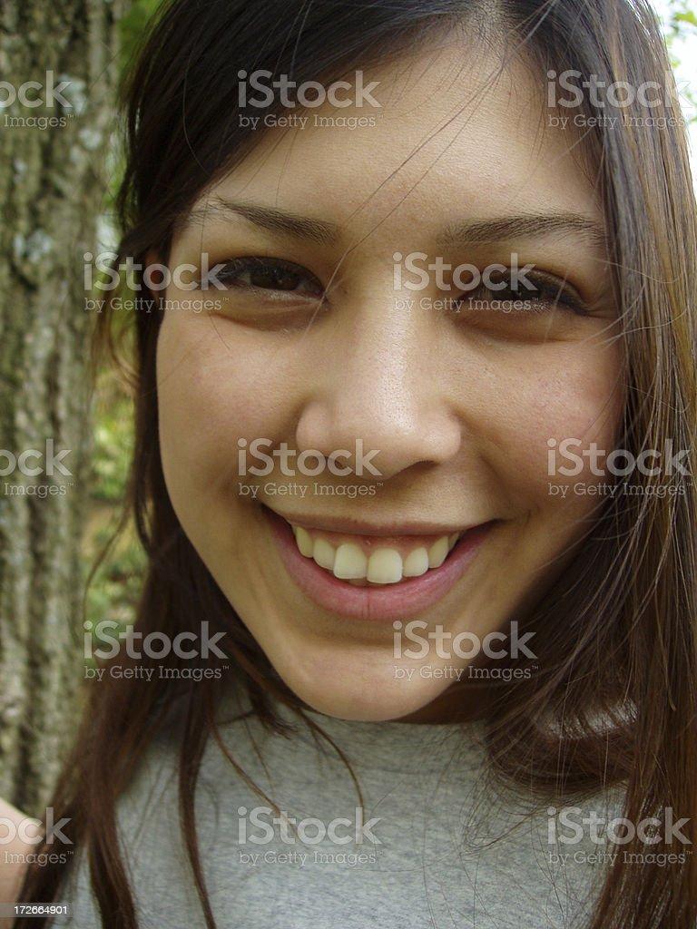 Smiling Teenager royalty-free stock photo