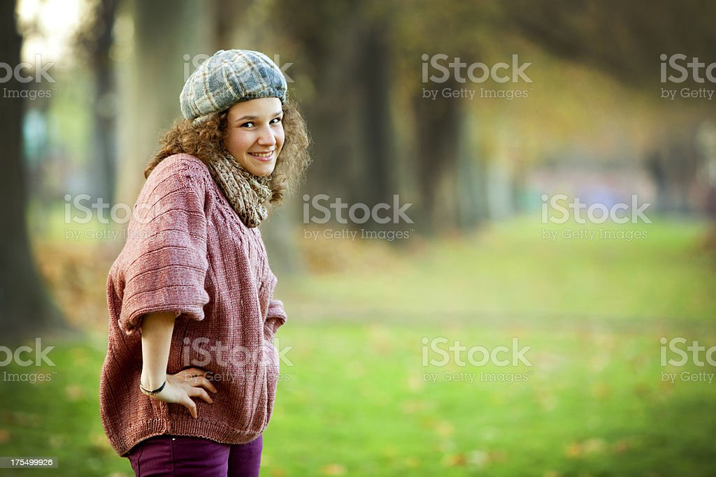 smiling teenager royalty-free stock photo