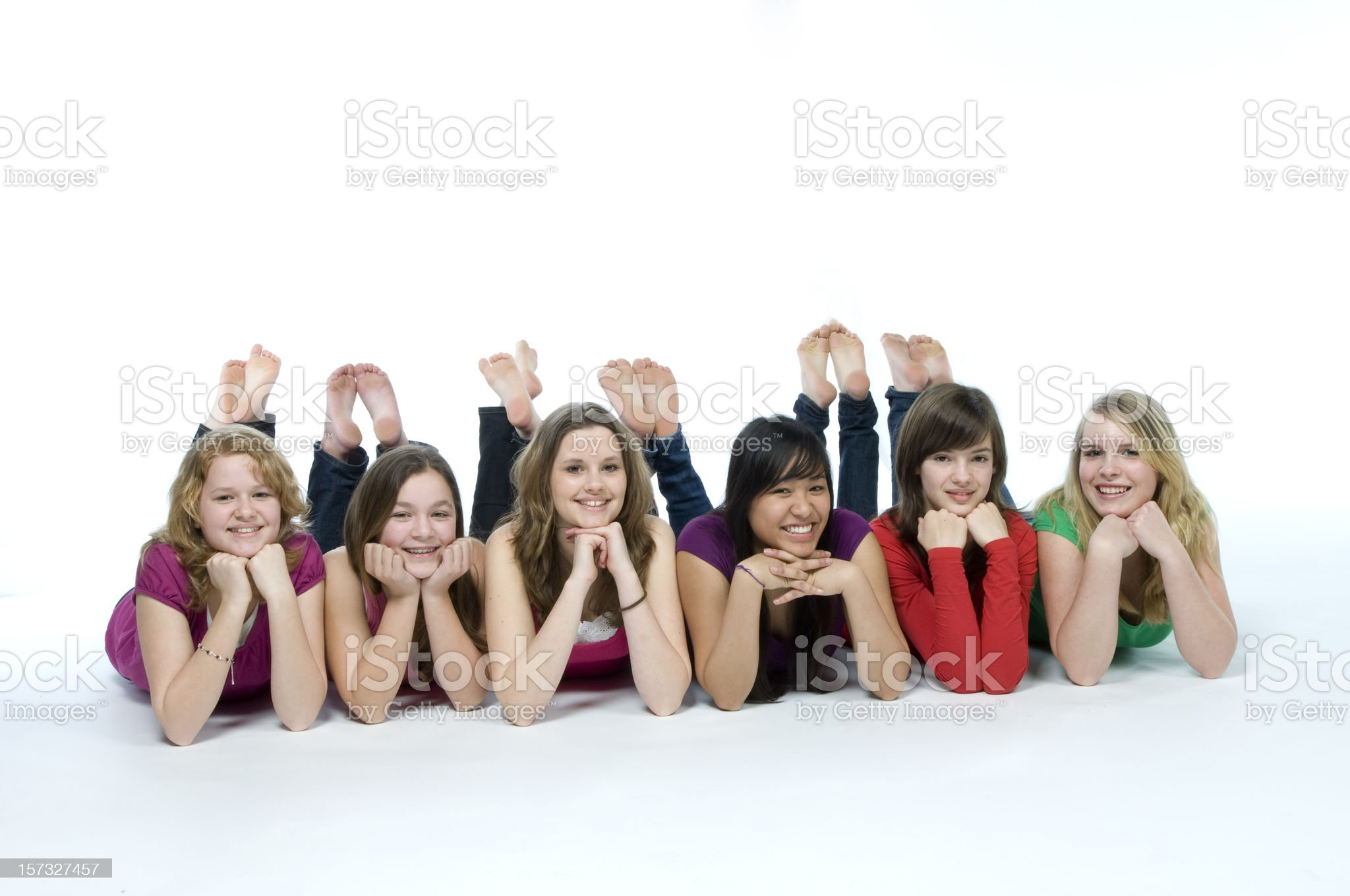 smiling teenagers royalty-free stock photo
