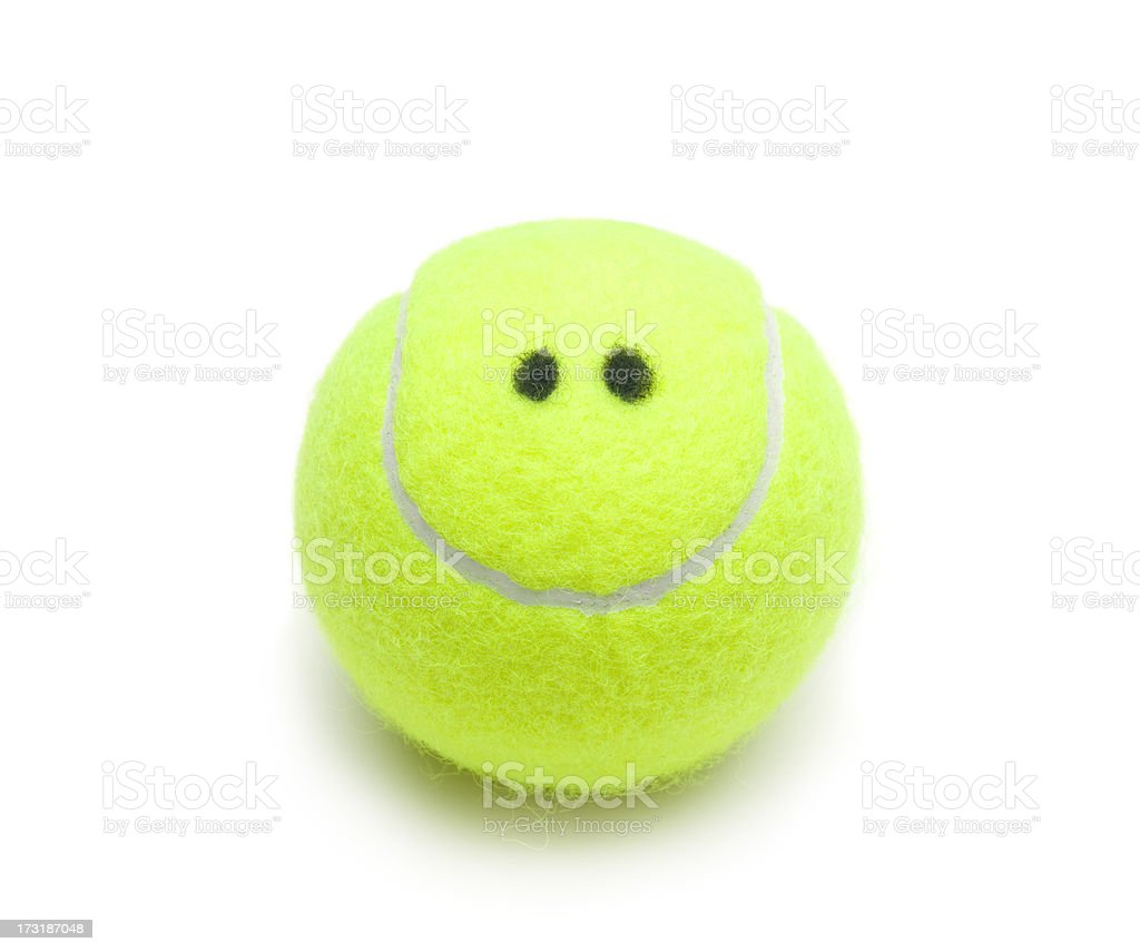 Smiling Tennis Ball stock photo