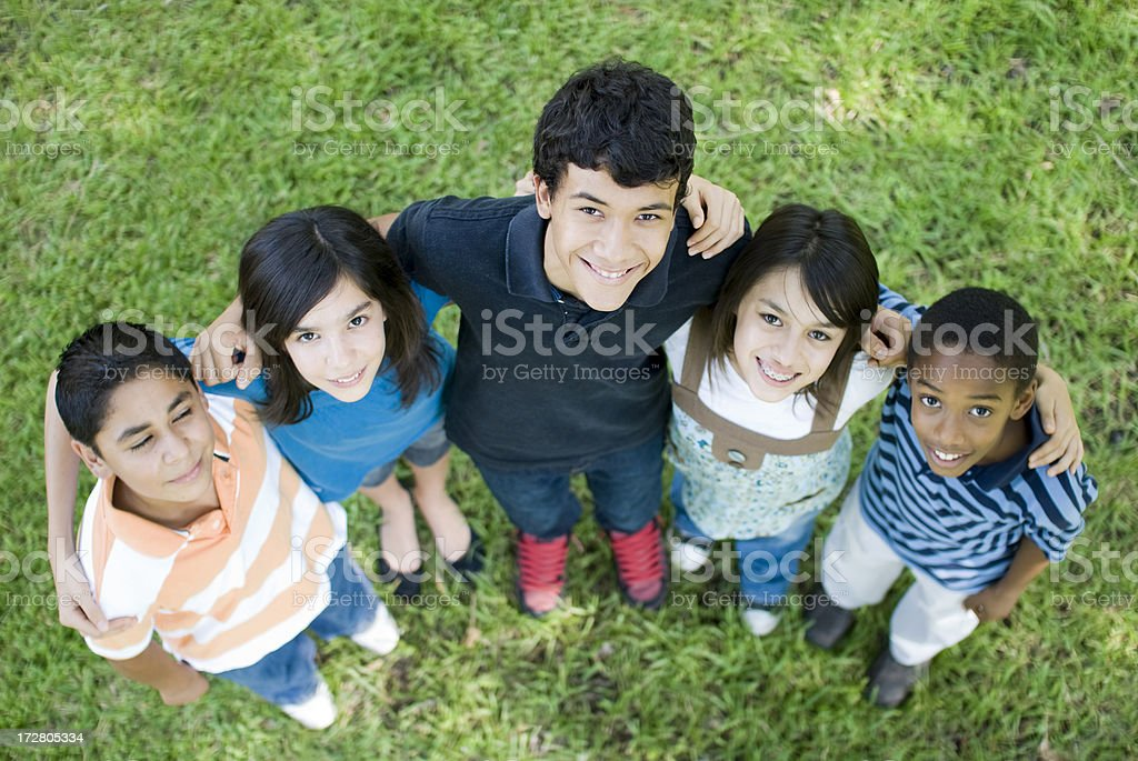 Smiling to the camera royalty-free stock photo