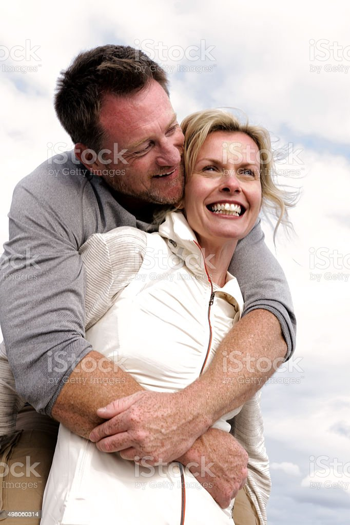 Smiling together stock photo