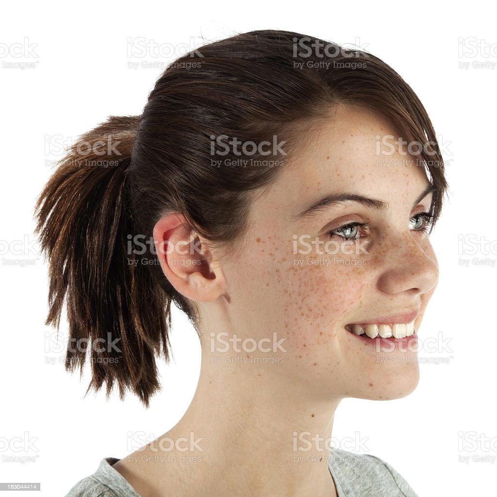 Smiling Toothy Female Teen Portrait royalty-free stock photo