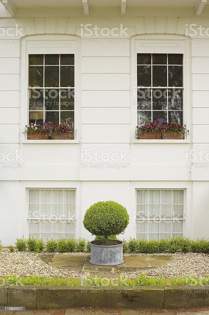 Smiling town house. stock photo