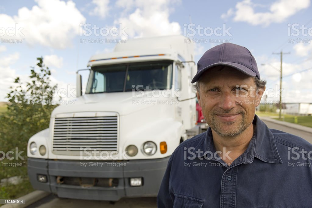 Smiling Truck Driver royalty-free stock photo