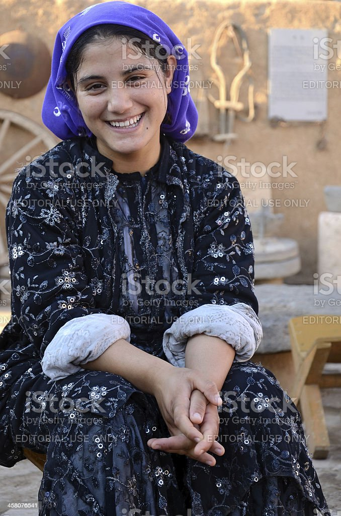 Smiling Turk girl portrait stock photo