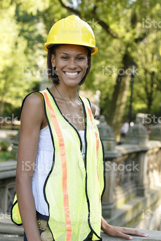 Smiling Utility Worker royalty-free stock photo
