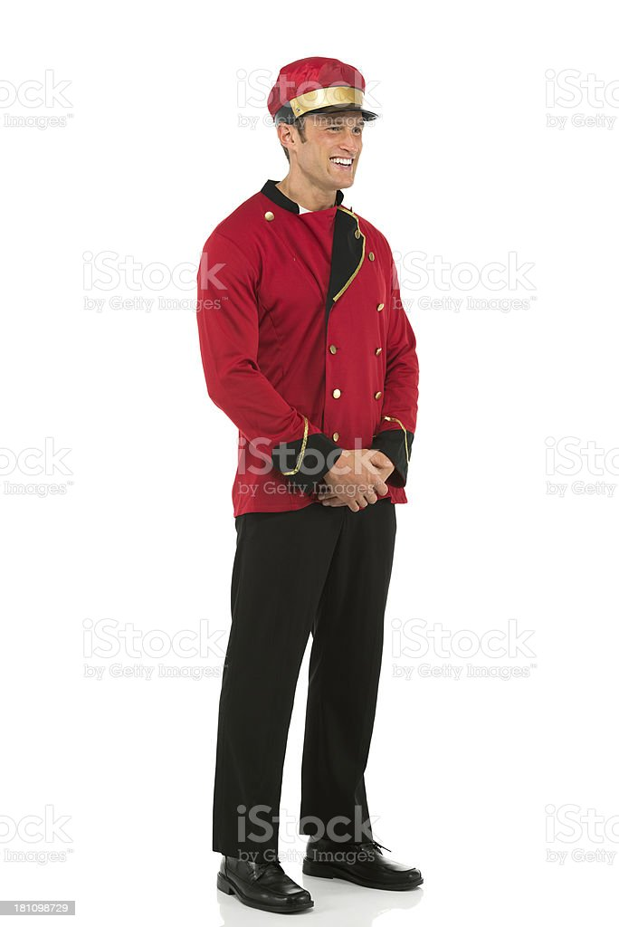 Smiling valet royalty-free stock photo