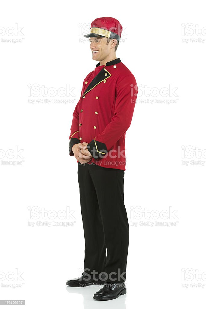 Smiling valet royalty-free stock photo
