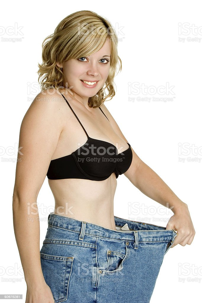 Smiling Weight Loss Girl royalty-free stock photo