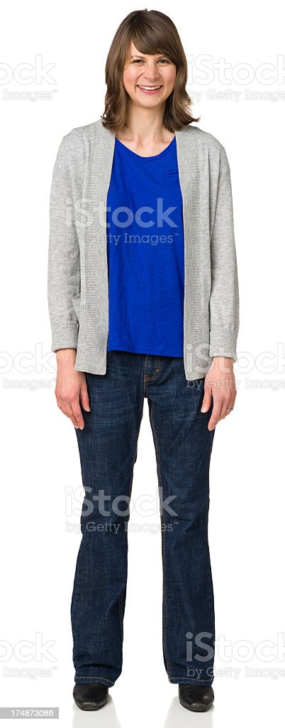 Smiling Woman Full Length Portrait royalty-free stock photo