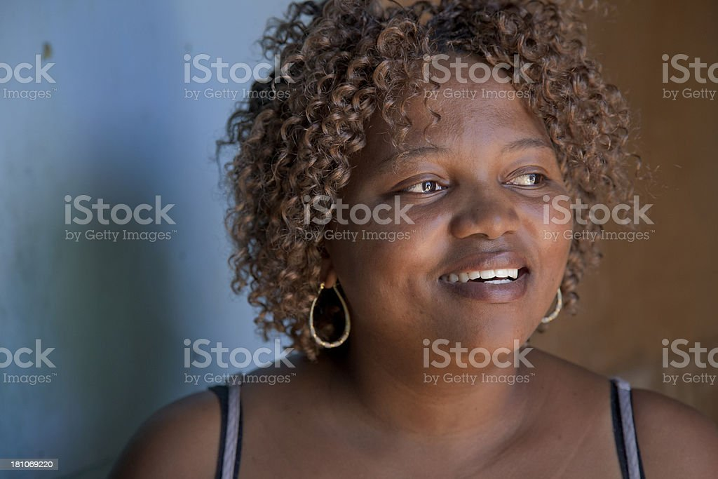 Smiling Woman, Gugulethu, Cape Town, South Africa. royalty-free stock photo