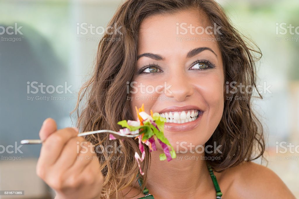 Smiling Woman On A Diet stock photo
