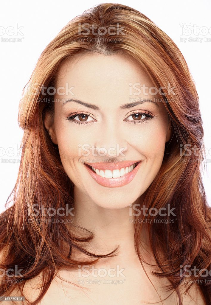 Smiling woman. stock photo