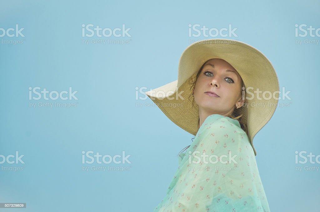 Mulher sorridente foto de stock royalty-free